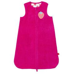 Turbulette éponge doublée jersey avec patch fruit