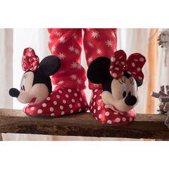 Pluchen pantoffels van Disney's Minnie met stippenprint, van maat 24 tot en met 27