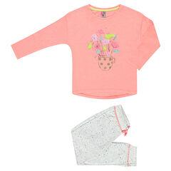 Lange pyjama met fantasieprint