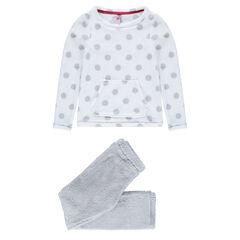 Junior - Pyjama van sherpa met bolletjes