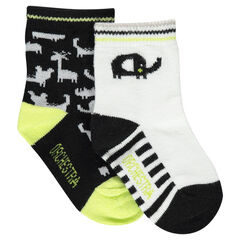 Set met 2 paar matching sokken met dierenprint
