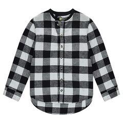 Junior - Geruit flanellen hemd met lange mouwen