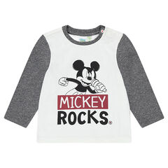 Tee-shirt manches longues en jersey Disney print Mickey