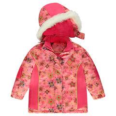 Ski-jas met fantasieprint en microfleece voering