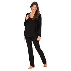 Effen pyjamaset uit 3 delen voor tijdens de zwangerschap