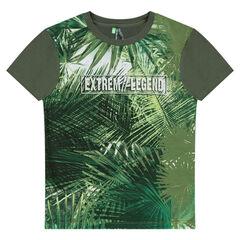 Tee-shirt manches courtes avec imprimé végétal