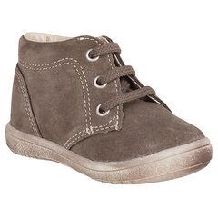 Boots in suedine