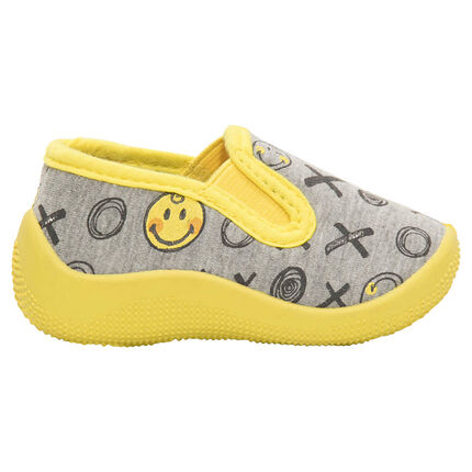"Lage pantoffels met print ©Smiley ""all-over"""