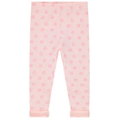 Legging en coton bio imprimé all-over