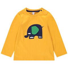 T-shirt met lange mouwen van jerseystof met olifantenpatch