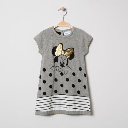 Tricotjurk met korte mouwen en print van Minnie Disney van lovertjes