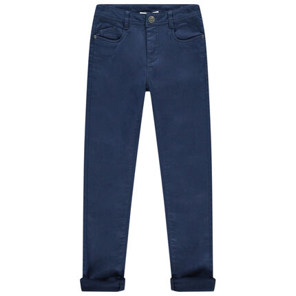 Junior - Pantalon en toile slim à poches