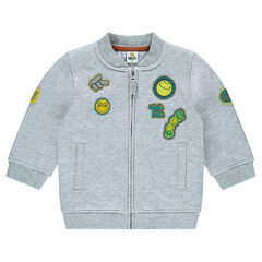 Veste en molleton matelassée ©Smiley avec badges