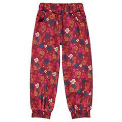 Pantalon fluide imprimé fleuri