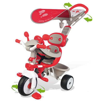 Tricycles 1er age Baby driver confort rouge