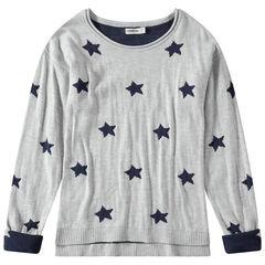 Junior - Tricottrui met sterren van jacquard