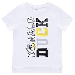 Disney T-shirt met korte mouwen uit jerseystof met tekst en print van Donald