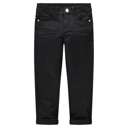 Junior - Slim-fit broek van twill met crinkle-effect