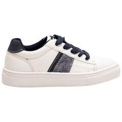 Lage sneakers met contrasterende veters en stroken van maat 28 tot 38