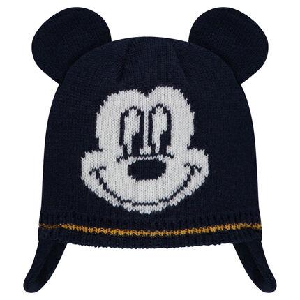 Bonnet péruvien en tricot avec motif Disney Mickey en jacquard