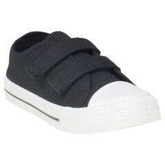 Lage sneakers van linnen met klittenbandsluiting van maat 29 tot 35