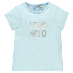 Tee-shirt manches courtes avec inscription printée