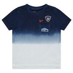 T-shirt met korte mouwen in jerseystof met tie and dye-effect