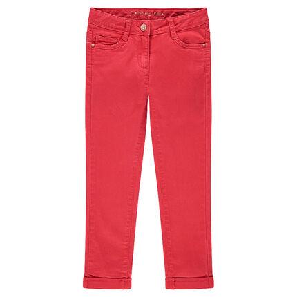 Pantalon en twill coupe slim uni