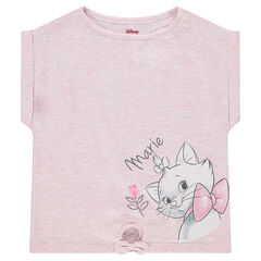 T-shirt met korte mouwen van jerseystof met rechte vorm en ©Disney print met Marie