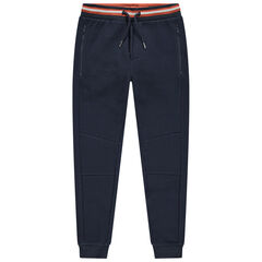 Junior - Pantalon de jogging en molleton à poches zippées et taille rayée