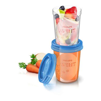 Set van 5 bewaarbeker voor voeding - 240 ml