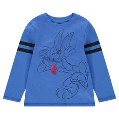 Tee-shirt manches longues avec Bugs Bunny ©Warner/Looney Tunes et sequins magiques