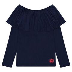 Junior - T-shirt met volants en losse schouders