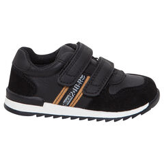 Lage sneakers met klittenbandsluiting en contrasterende banden
