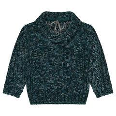 Trui van gedraaide tricot