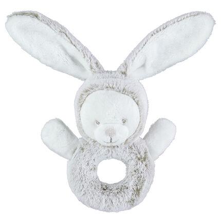 Babyspeeltje van sherpastof in konijnenvorm