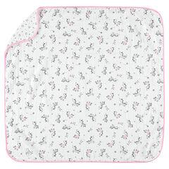 Couverture en tétra avec licornes et étoiles imprimées