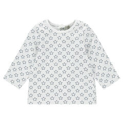T-shirt lange mouwen in jersey all-overmodelprint