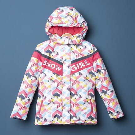 Junior - Blouson de ski imperméable à motif graphique all-over