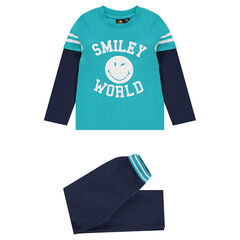 2-in-1 jersey pyjama met ©Smiley print