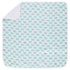 """©Smiley Boy deken van tetrastof met wolkenprint """"all-over"""""""