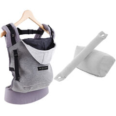 Porte-bébé HoodieCarrier + Pack Booster - Gris flanelle