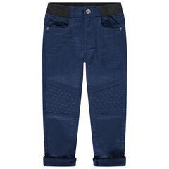 Pantalon en toile à taille élastiquée