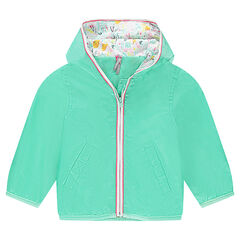 Coupe-vent à capuche doublé jersey
