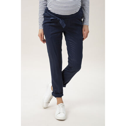 Pantalon de grossesse avec ceinture à nouer
