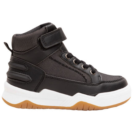 Hoge sneakers met klittenband en veters van maat 28 tot 35