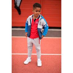 Pantalon de jogging en molleton avec poches zippées contrastées