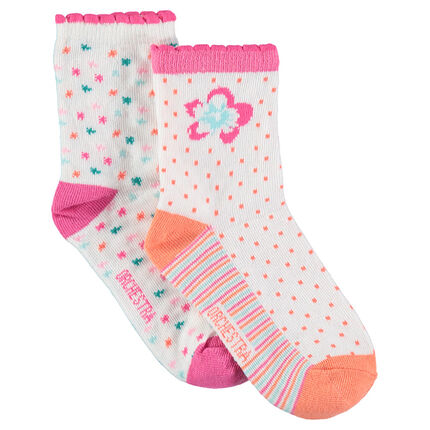 Set met 2 paar matching sokken met kleurrijke jacquardmotieven