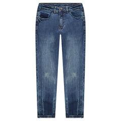 Junior - Jeans effet used à poches et ombres de poches