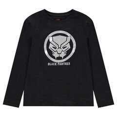 Junior - Tee-shirt manches longues en jersey avec print Black Panther ©Marvel